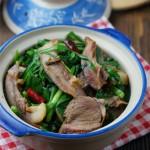 猪头肉炒韭菜