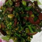 豬血腸炒韭菜