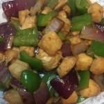 柿子椒炒鸡丁