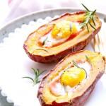 红薯烤蛋#九阳#