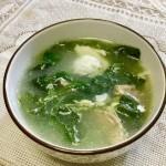 白背菜肉片汤