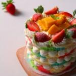 彩虹裸蛋糕#九阳#