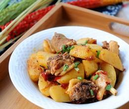 土豆焖三黄鸡