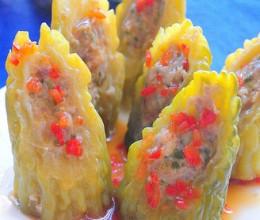 春季吃苦菜-肉末苦瓜盅
