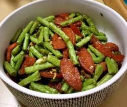豇豆角炒火腿