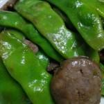 油豆角炒黑椒香肠