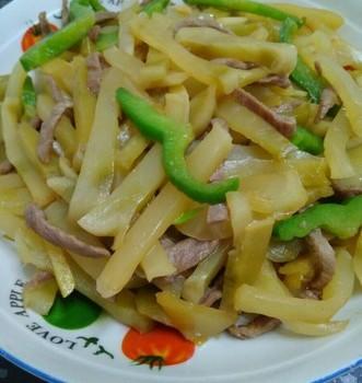 榨菜丝炒肉