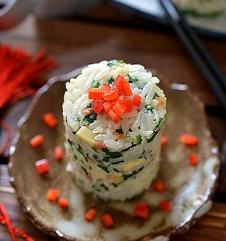 薺菜冬筍飯