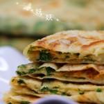 芹菜叶子千层饼
