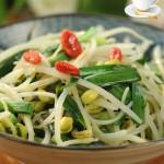 韭菜炒黄豆芽