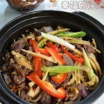 砂锅牛肉焖笋