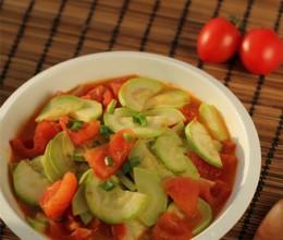 西红柿炒笋瓜