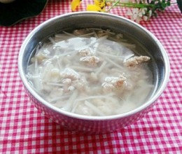 金针菇肉末汤