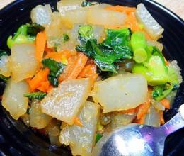青菜炒凉粉