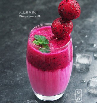 火龙果牛奶汁
