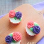 豆沙裱花杯子蛋糕