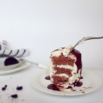 淋面可可蛋糕