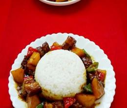 红烧肉烩饭
