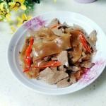 猪肝辣炒粉皮