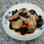 肉炒木耳白菜