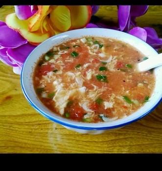 西红柿虾米蛋花汤