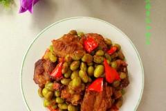 排骨炒青豆