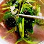 红苋菜皮蛋汤