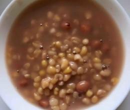 大红豆粘碴子粥