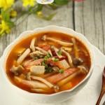 蟹味菇豆腐番茄汤