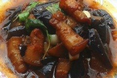 五花肉焖茄子