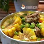 排骨玉米炖青豆