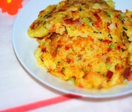时蔬米饭饼