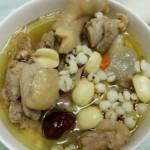 莲子冬瓜薏米鸭汤