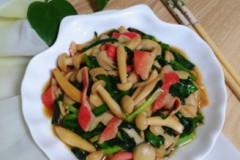 韭菜炒蟹棒