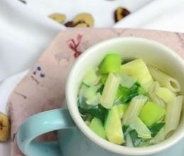 冬笋高汤蔬菜面