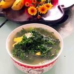 白花菜咸蛋汤