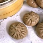 褐麦香菇肉包