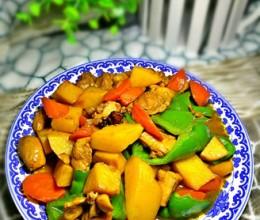 土豆胡萝卜炖鸡肉