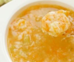 芹菜虾仁粥