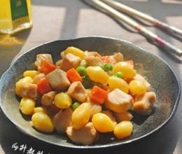 银杏果蔬菜鸡丁