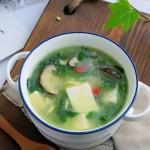 野菜豆腐湯