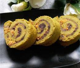 抹茶红豆肉松蛋糕卷