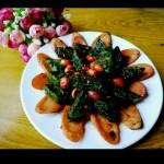 雞肉腸炒菠菜疙瘩