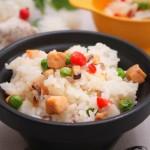 五彩三文鱼焖饭  宝宝健康食谱