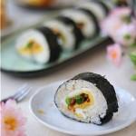 彩蔬寿司卷#樱花味道#