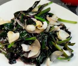 百合炒紫背菜