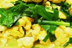 韭菜炒土鸡蛋