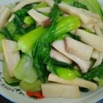 杏鲍菇烧油菜