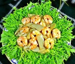 苦苣鲍菇虾仁