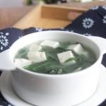 韭菜豆腐湯